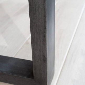 Stół z drewnianym blatem i metalowymi nogami genesis / 160 cm