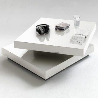 Biały nowoczesny stolik kawowy hugo / 75x75 cm