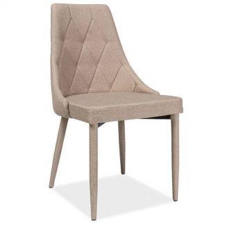 Nowoczesne krzesło tapicerowane trix beżowe