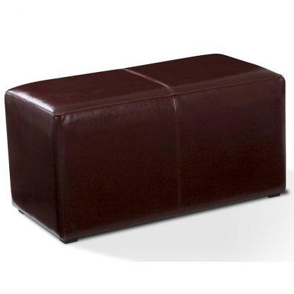 Tapicerowany prostokątny puf kubik ii
