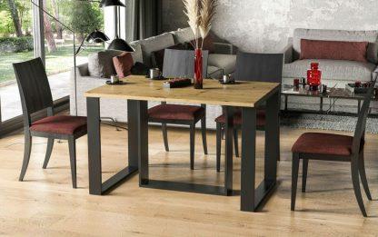 Nowoczesny stół borys bis na metalowych nogach / 130 cm