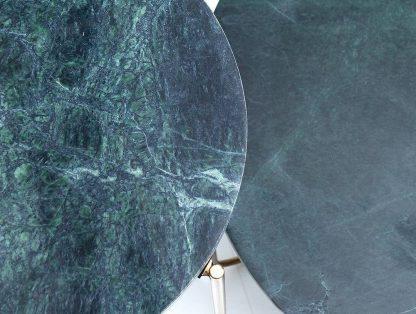 Okrągły stolik z marmurowym blatem noble zielono-złoty 60 cm