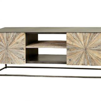 Drewniana szafka rtv santana w stylu loftowym