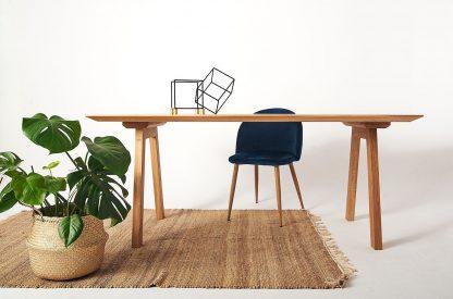 Nowoczesny drewniany dębowy stół irving / 180x90 cm