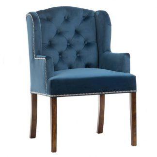 Stylowy fotel fabio z pikowanym oparciem