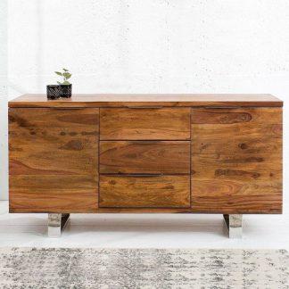 Drewniana klasyczna komoda z szufladami fire & earth / szer. 160 cm