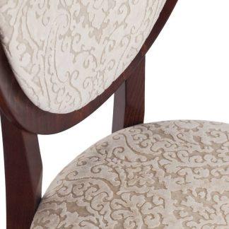 Rocco krzesło tapicerowane bukowe z owalnym oparciem