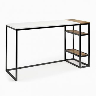 Nowoczesne biurko z kontenerkiem connect steel cinquie (130 cm)