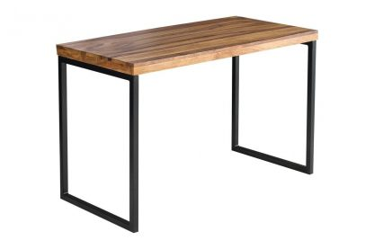 Eleganckie biurko fusion z drewnianym blatem (118 cm)