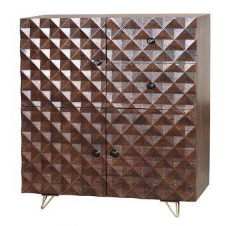Drewniana komoda ilusion / wys. 110 cm