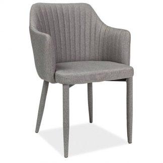 Nowoczesne krzesło tapicerowane welton szare