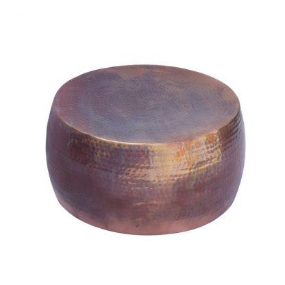 Stolik kawowy z młotkowanego aluminium optik / podpalana miedź 60 cm