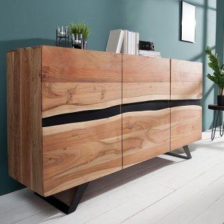 Nowoczesna komoda amazonas z drewna akacji / szer. 150 cm