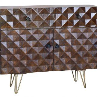 Drewniana komoda ilusion / wys. 80 cm