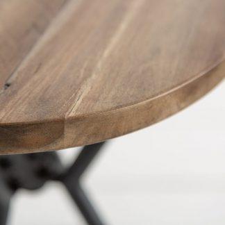 Okrągły stolik kawowy factory akacja / zestaw 3 szt.