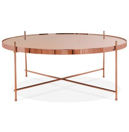Okrągły stolik kawowy espejo big / miedziany