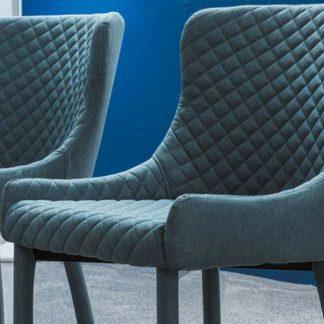 Nowoczesne krzesło tapicerowane colin denim