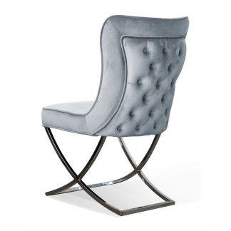 Eleganckie tapicerowane krzesło roverto na chromowanych nogach