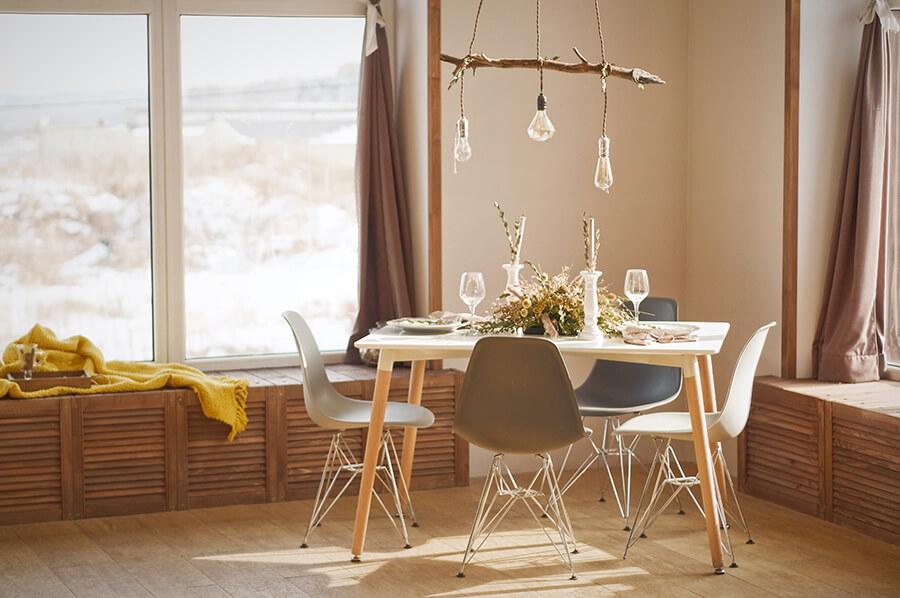 nowoczesne stoły i krzesła do salonu